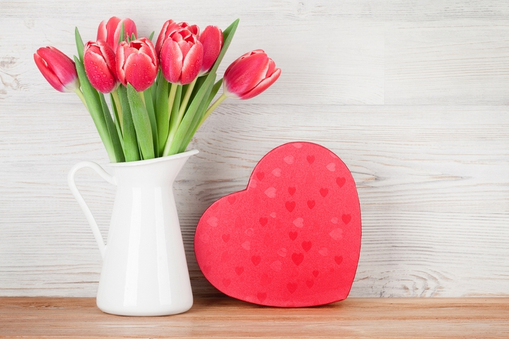 Red tulips are flowers where you declare your love.
